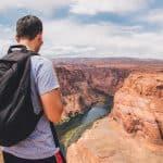 man looking at the Grand Canyon