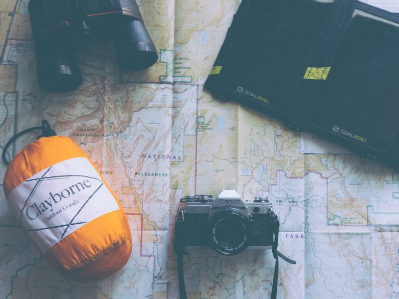 travel stuff on the map