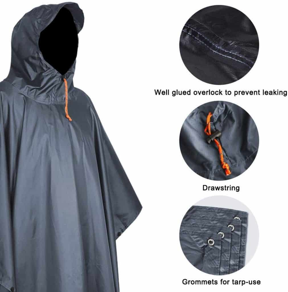 Anyoo waterproof rain poncho - photo 2