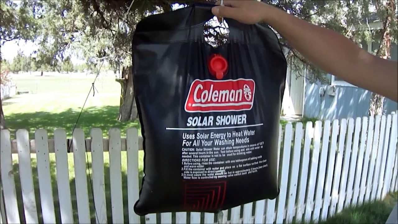 Coleman 5 gallon solar shower - photo 4