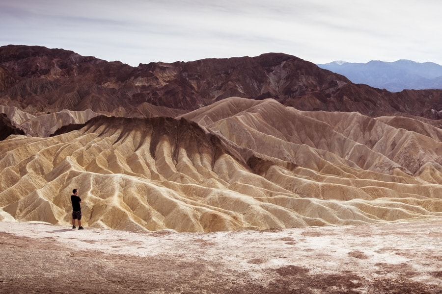 man looking at the Death Valley National Park