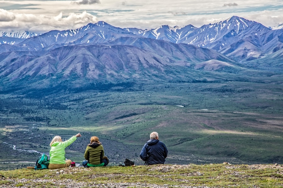 hikers at the Denali National Park
