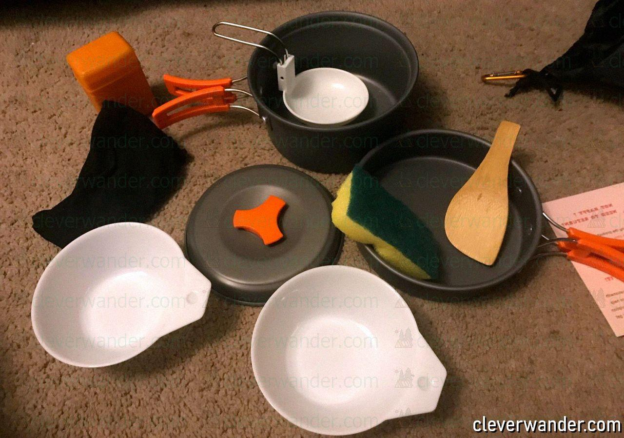 AnimeMiracle Pcs Camping Cookware Set - image review - 4
