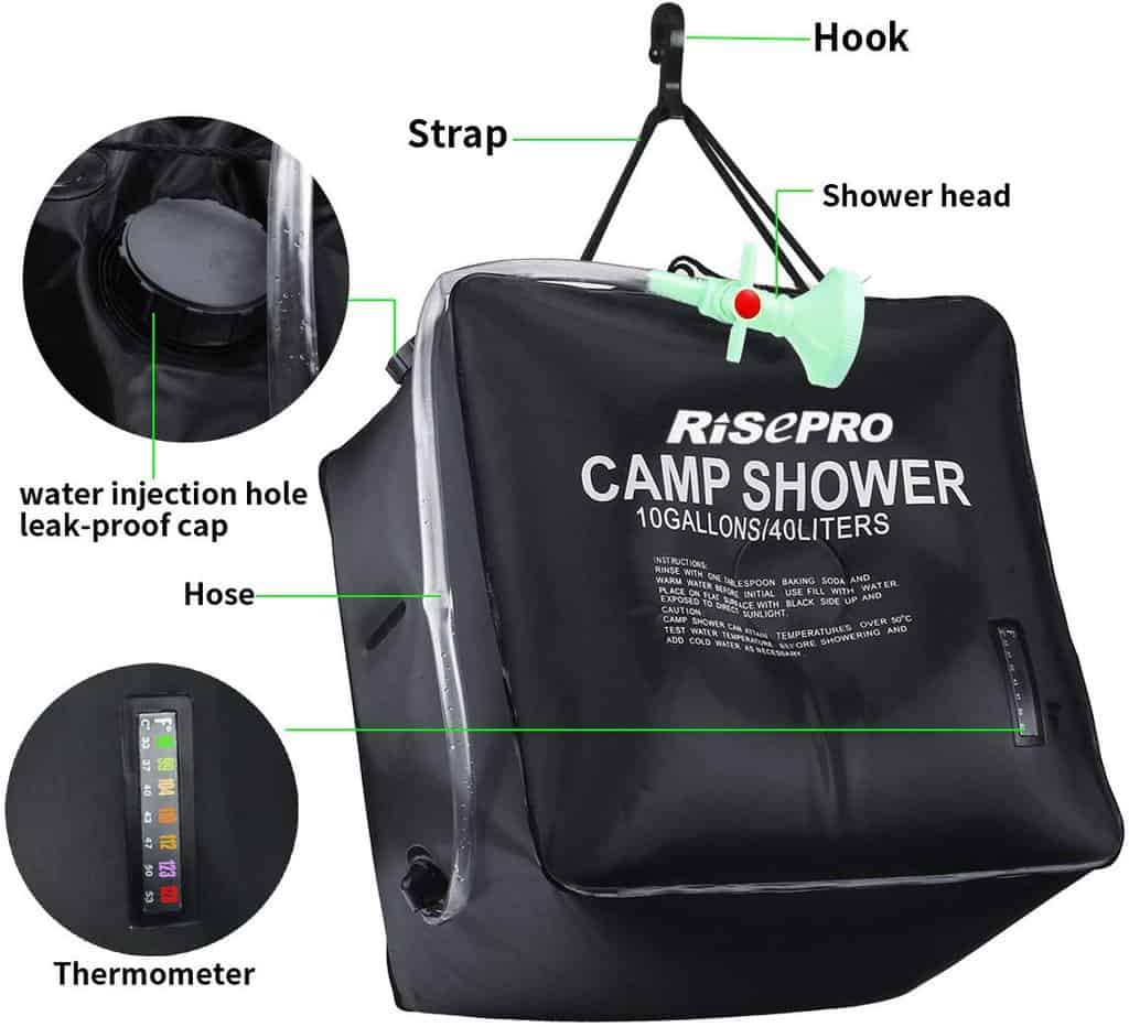 Risepro solar shower bag - photo 3