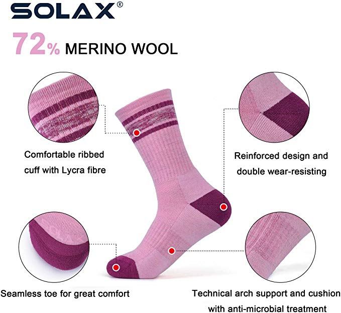 Solax merino wool hiking socks - photo 4