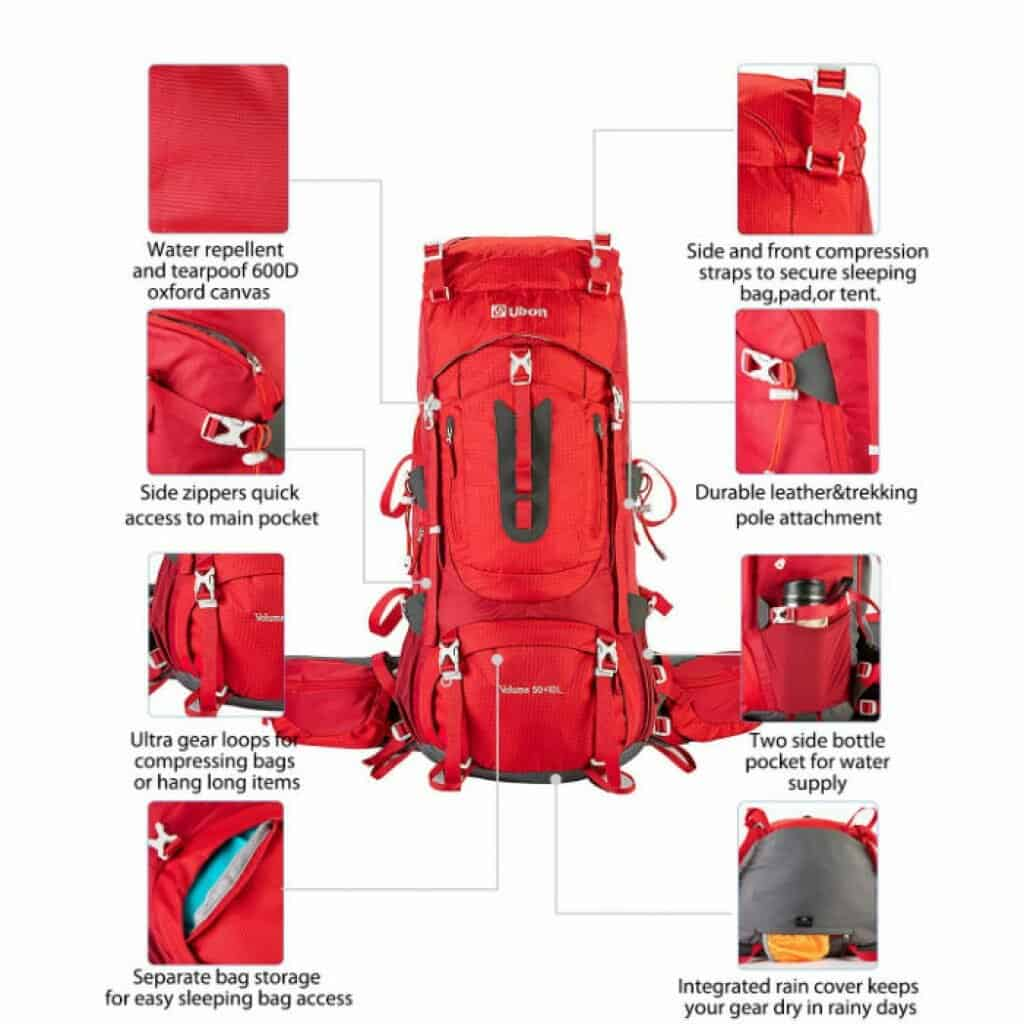 Ubon internal framed hiking backpack - photo 3