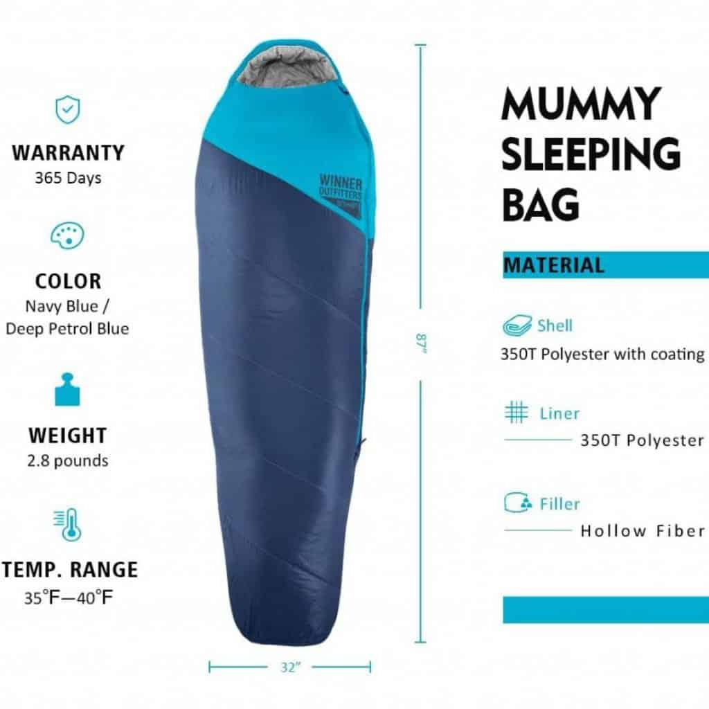 Winner outfiters sleeping bag - photo 4