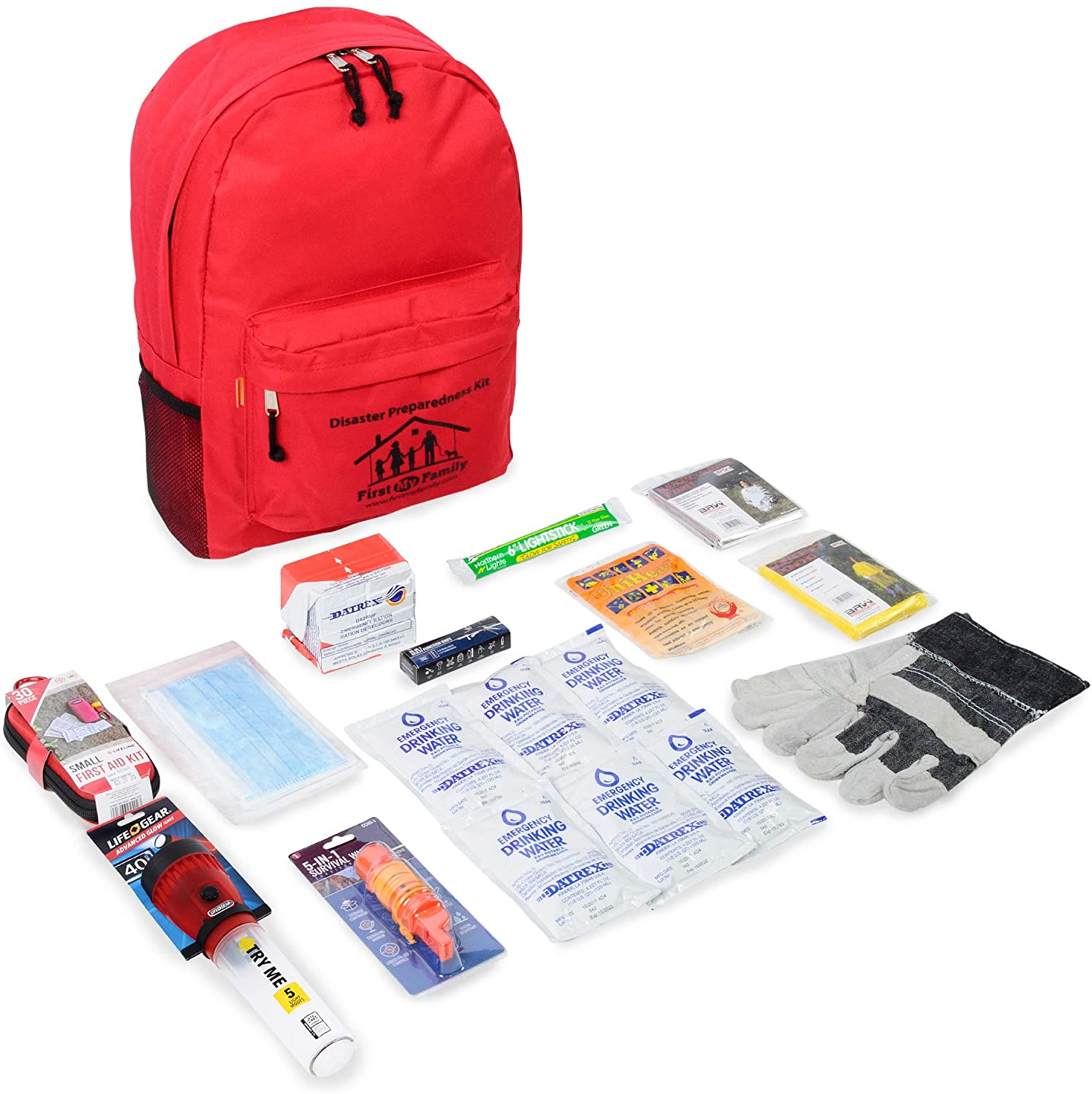 First My Family A Disaster Preparedness Company 1PKIT All-in-One Single Person Premium Disaster Preparedness Survival Kit 1