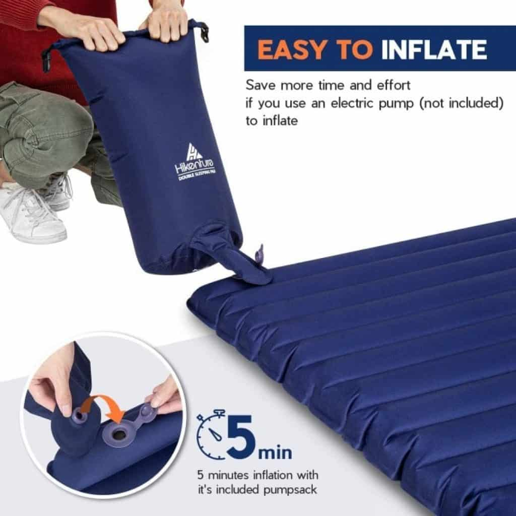 how to inflate Hikenture Double Sleeping Pad