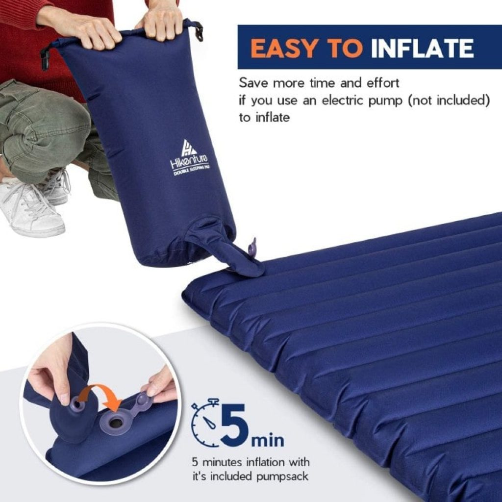 how to inflate Hikenture Double Sleeping Pad