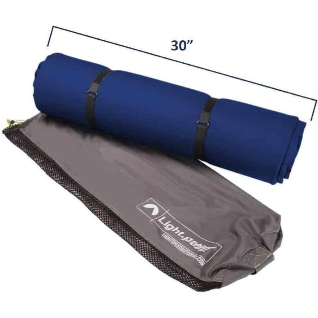 Lightspeed Outdoors XL Super Plush FlexForm Pad in packed state
