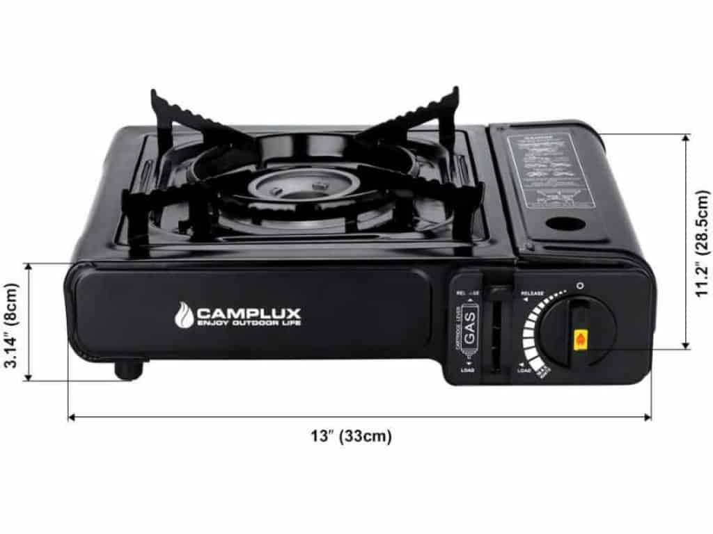 camplux dual fuel camping stove sizes