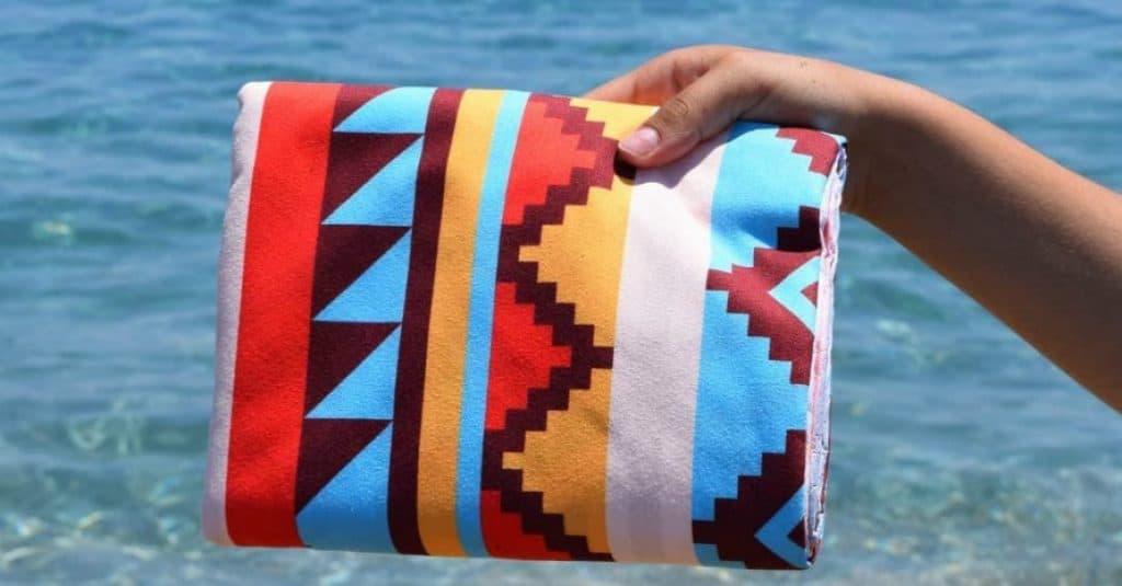 ECCOSOPHY Microfiber Beach Towel at before ocean