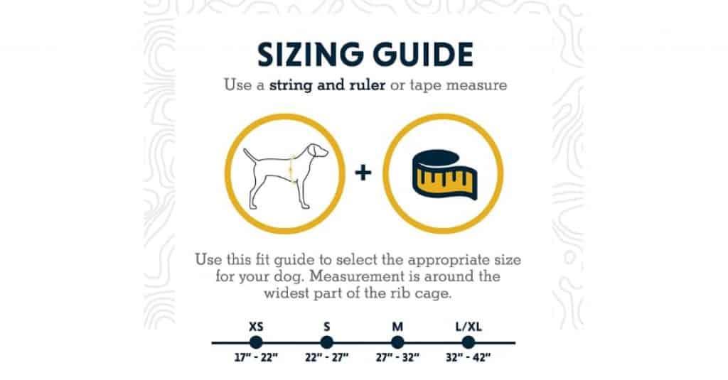 RUFFWEAR - Approach Dog sizes