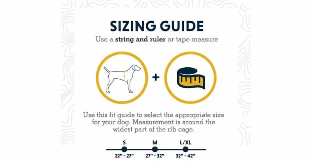 RUFFWEAR - Sizes guide