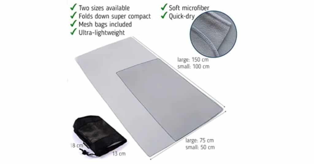 The Friendly Swede Microfiber sizes