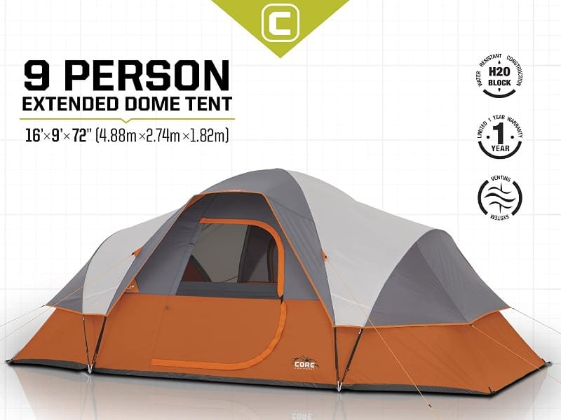 core extended dome tent