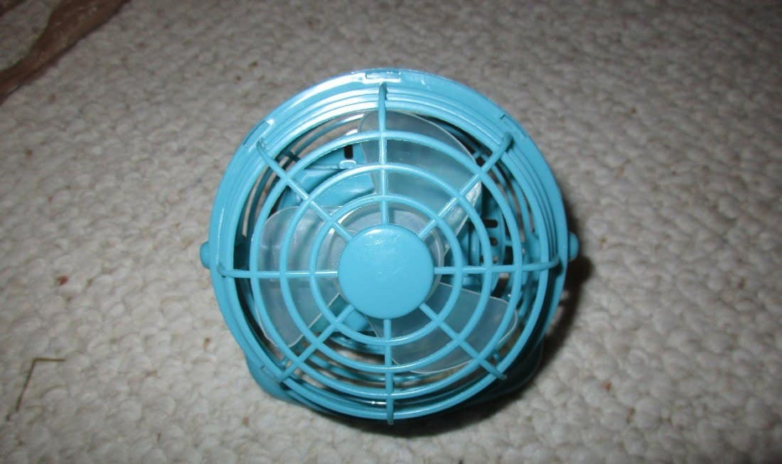 portable battery operated fan