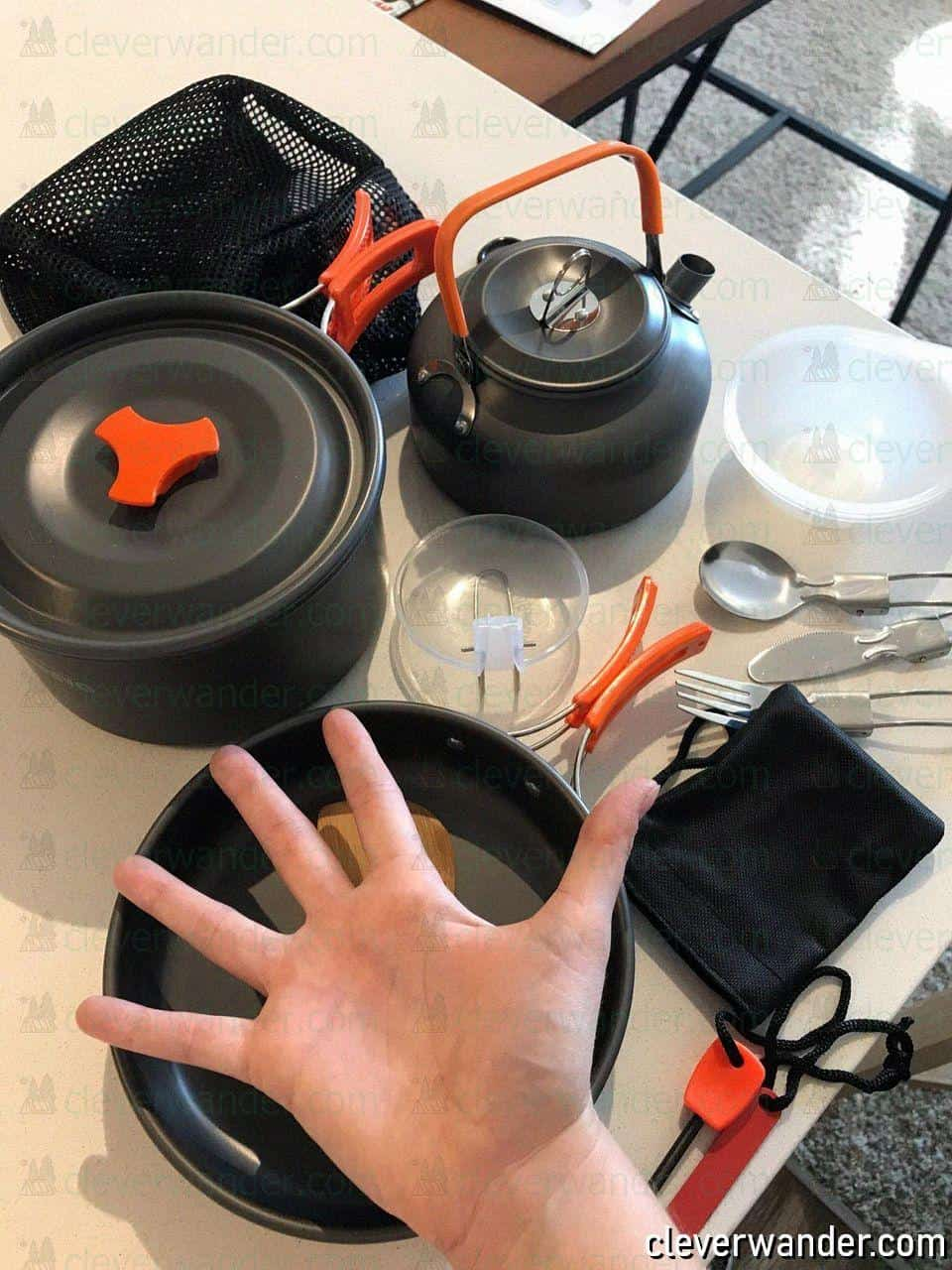 Overmont Ultralight Camping Cookware Set – Perfect Camping Cookware - Photo