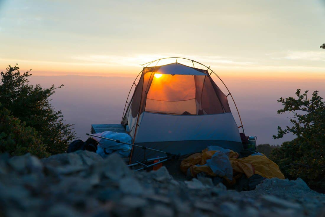 a tent without its rain fly