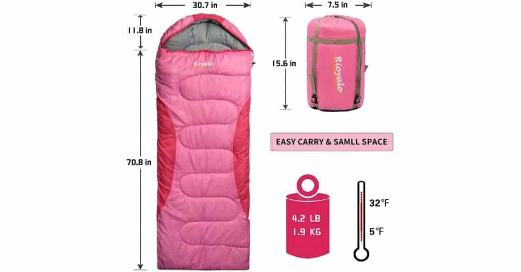 0 Degree Winter Sleeping Bags Sizes