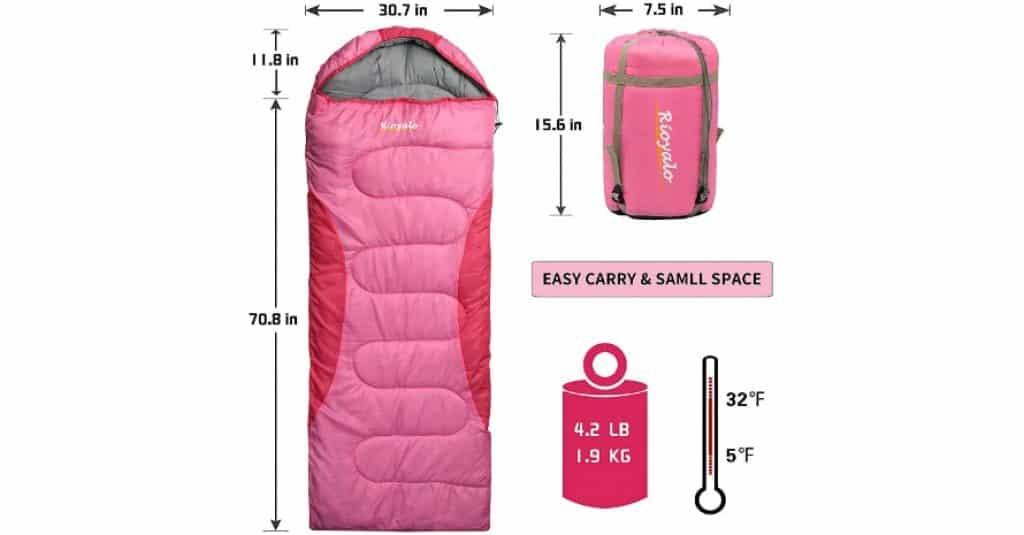 0 Degree Winter Sleeping Bags Sizes